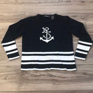 Vintage Liz Claiborne Anchor Sailor Sweater